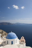 Typical Church Clinging to Hillside Above the Aegean Sea  Oia (Ia)  Santorini (Thira) (Thera)