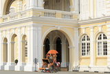 Trishaw Outside Georgetown Town Hall  Georgetown  Penang Island  Malaysia  Southeast Asia  Asia
