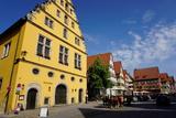 Houses in Weinmarkt  Dinkelsbuhl  Romantic Road  Franconia  Bavaria  Germany  Europe