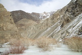 Frozen River in Rumbak Valley  Hemis National Park  Ladakh  India  Asia