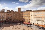 Piazza Del Campo  UNESCO World Heritage Site  Siena  Tuscany  Italy  Europe