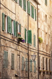 Building Facades in the Old Town of Siena  Tuscany  Italy  Europe