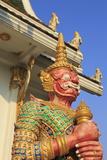Warrior in Wat Chamongkron Royal Monastery  Pattaya City  Thailand  Southeast Asia  Asia