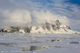 Clouds Forming over Snow-Capped Mountains in Penola Strait  Antarctica  Polar Regions