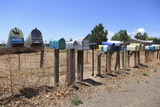 Painted Rural Mailboxes  Galisteo  Santa Fe County  New Mexico  Usa