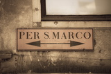 Street Sign  Venice  UNESCO World Heritage Site  Veneto  Italy  Europe
