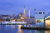 Yeni Mosque and Galata Bridge  Istanbul  Turkey  Europe