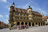 The Town Hall  Rothenburg Ob Der Tauber  Romantic Road  Franconia  Bavaria  Germany  Europe