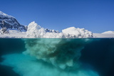 Above and Below View of Glacial Ice Near Wiencke Island  Neumayer Channel  Antarctica