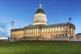 The Utah State Capitol Building at Dusk  Salt Lake City  Utah  Usa