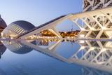 The City of Arts and Sciences (Ciudad De Las Artes Y Las Ciencias) in Valencia  Spain  Europe