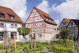 Half Timbered House  Old Town  Vellberg  Hohenlohe Region  Baden Wurttemberg  Germany  Europe