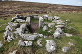 Ruins of Early Bronze Age House  About 3500 Years Old  Grimspound