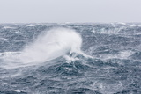 Gale Force Westerly Winds Build Large Waves in the Drake Passage  Antarctica  Polar Regions