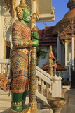 Warrior in Wat Chamongkron Royal Monastery  Pattaya City  Thailand  Southeast Asia  Asia