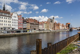 View of Old Town Gdansk from the Vistula River  Gdansk  Poland  Europe
