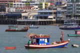 Fishing Boats in Pattaya City  Thailand  Southeast Asia  Asia