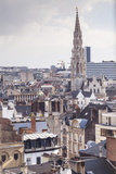 The Rooftops and Spire of the Town Hall in the Background  Brussels  Belgium  Europe