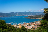 Lerici  View Overlooking Town and Bay  Liguria  Italy  Europe