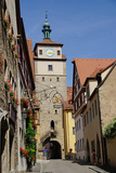 White Tower   Rothenburg Ob Der Tauber  Romantic Road  Franconia  Bavaria  Germany  Europe