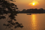 Perfume River (Huong River) at Sunset  Hue  Thua Thien-Hue  Vietnam  Indochina