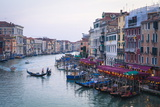 A Gondola Crossing the Grand Canal  Venice  UNESCO World Heritage Site  Veneto  Italy  Europe