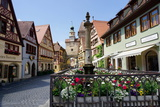 Rothenburg Ob Der Tauber  Romantic Road  Franconia  Bavaria  Germany  Europe