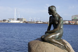 Statue of the Little Mermaid in Copenhagen  Denmark  Scandinavia  Europe