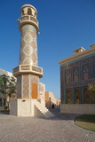 Minaret and Mosque  Katara Cultural Village  Doha  Qatar  Middle East