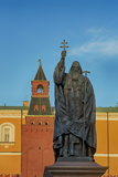 Statue of Patriarch Hermogenes in Alexander Gardens Near the Kremlin  Moscow  Russia  Europe