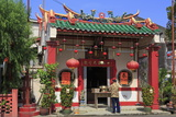 Temple in Chinatown  Melaka (Malacca)  Malaysia  Southeast Asia  Asia