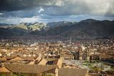 Elevated View over Cuzco and Plaza De Armas  Cuzco  Peru  South America