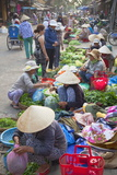 Women Selling Vegetables at Market  Hoi An  Quang Nam  Vietnam  Indochina  Southeast Asia  Asia