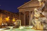 Piazza Della Rotonda and the Pantheon  Rome  Lazio  Italy  Europe