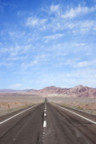 Open Road Paved Highway with No Traffic in Atacama Desert  Chile  South America