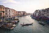 A Gondola Crossing the Grand Canal  Venice  UNESCO World Heritage Site  Veneto  Italy  Europe