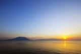 Sunrise over Sakurajima Volcano  Kagoshima  Kyushu  Japan  Asia