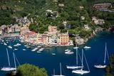 Aerial View  Portofino  Liguria  Italy  Europe