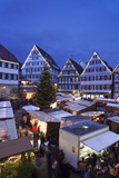 Weihnachtsmarkt in the Marktplatz  Herrenberg  Baden Wurttemberg  Germany  Europe