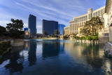 Morning Reflections in Bellagio Lake  Las Vegas  Nevada  United States of America  North America
