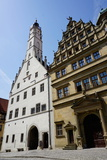 The Double Town Hall in Rothenburg Ob Der Tauber  Romantic Road  Franconia