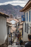 Street Scene in San Blas Neighbourhood  Cuzco  UNESCO World Heritage Site  Peru  South America