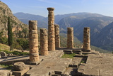 Temple of Apollo  Delphi  UNESCO World Heritage Site  Peloponnese  Greece  Europe