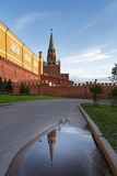 Trinity Tower of the Kremlin from Alexander Gardens  Moscow  Russia  Europe