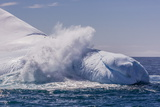 Waves Washing over Iceberg Near Elephant Island  South Shetland Islands  Antarctica  Polar Regions