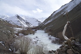 Frozen River  Rumbak Valley  Hemis National Park  Ladakh  India  Asia