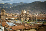 Elevated View over Cuzco and Plaza De Armas  Cuzco  Peru  South America