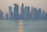 West Bay Central Financial District from East Bay District  Doha  Qatar  Middle East