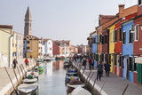 Colored Houses on the Island of Burano  Venice  Veneto  Italy  Europe
