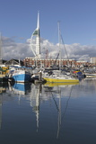 Spinnaker Tower and Camber Docks  Portsmouth  Hampshire  England  United Kingdom  Europe